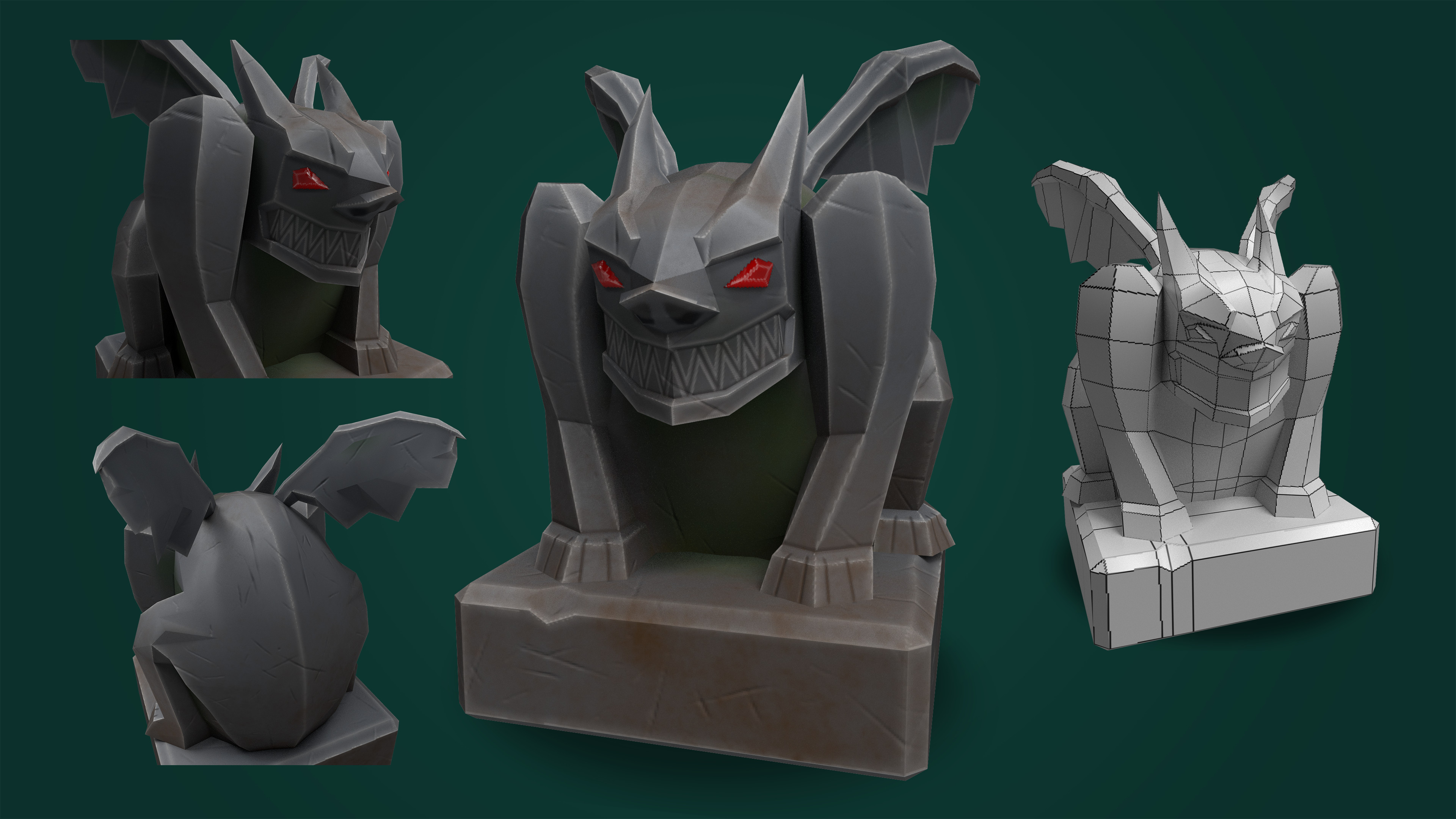 Low-Poly Gargoyle