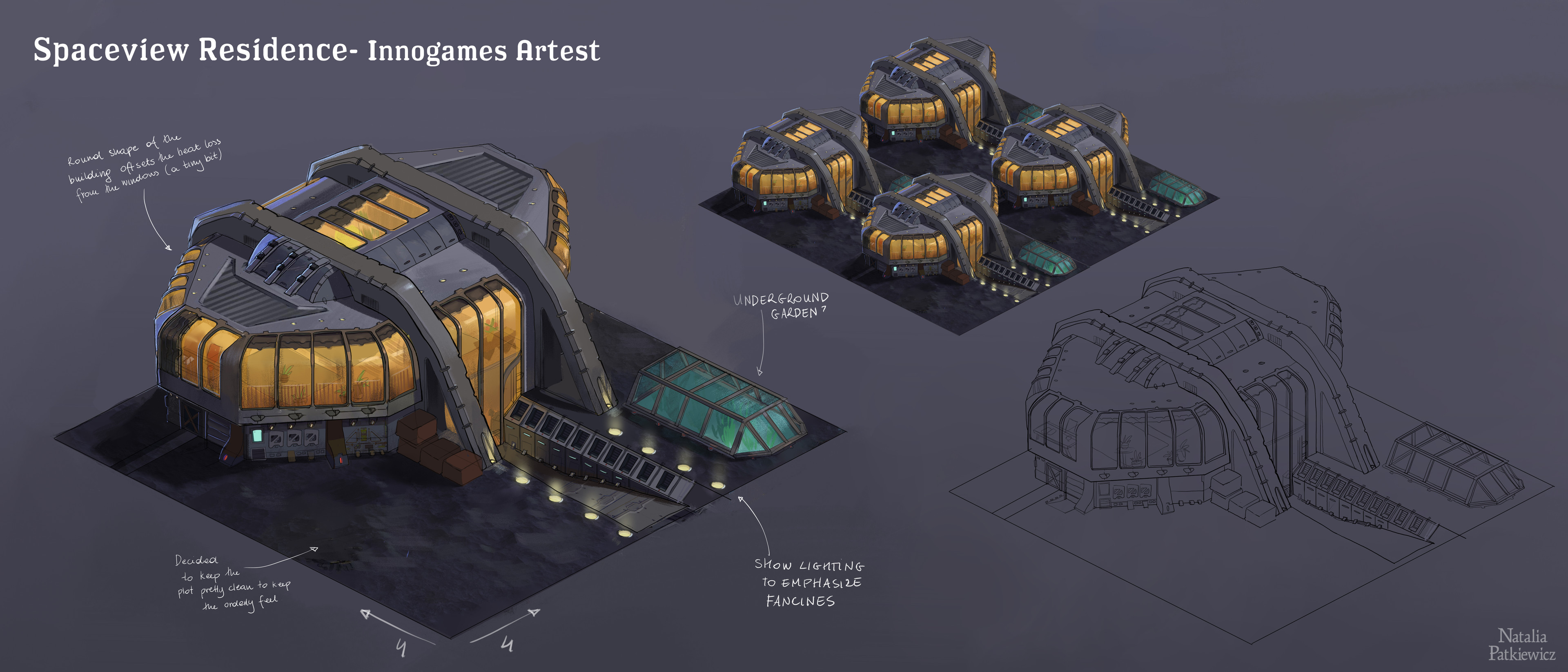 Design of a residential building for a asteroid belt expansion