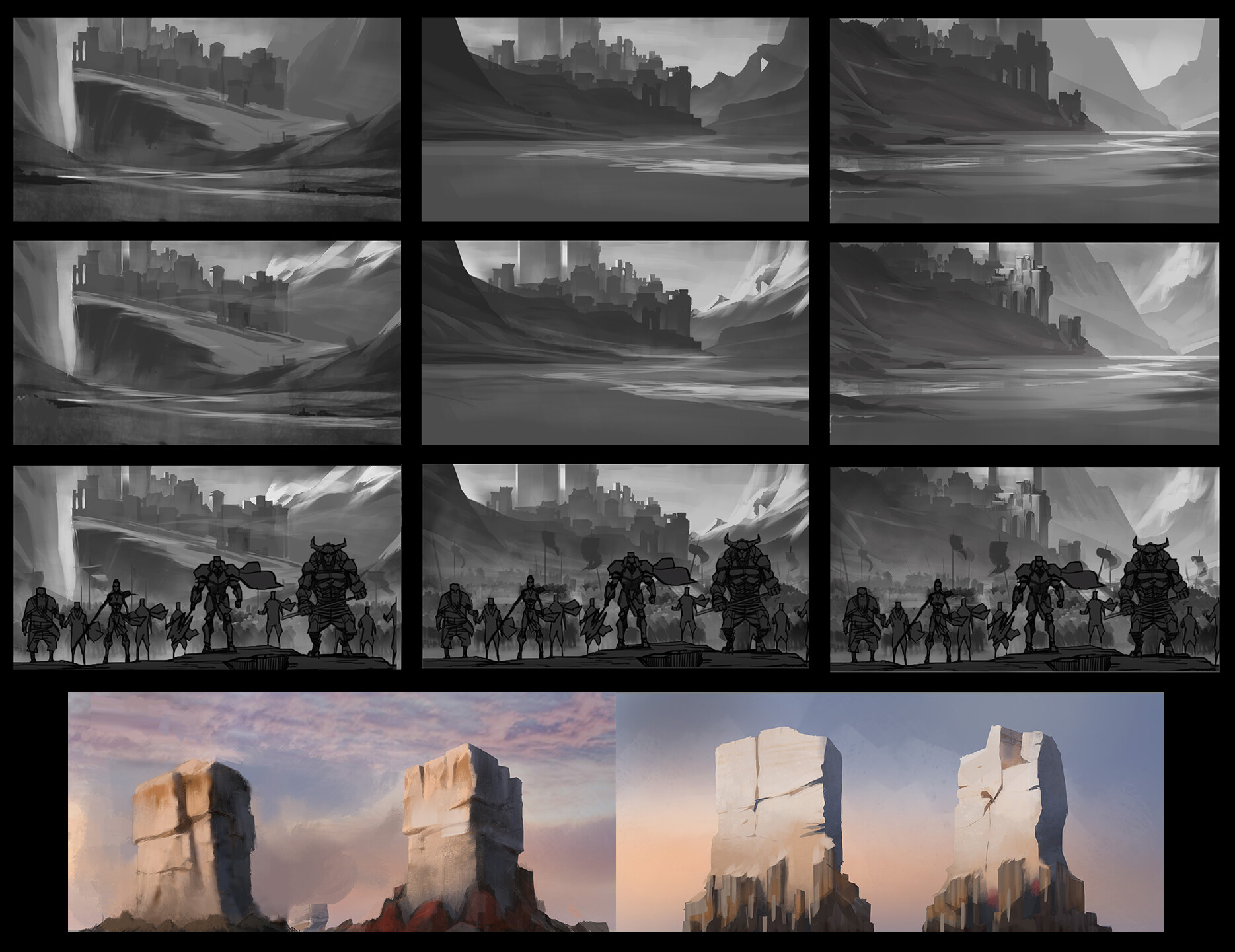 Concepts for final shot