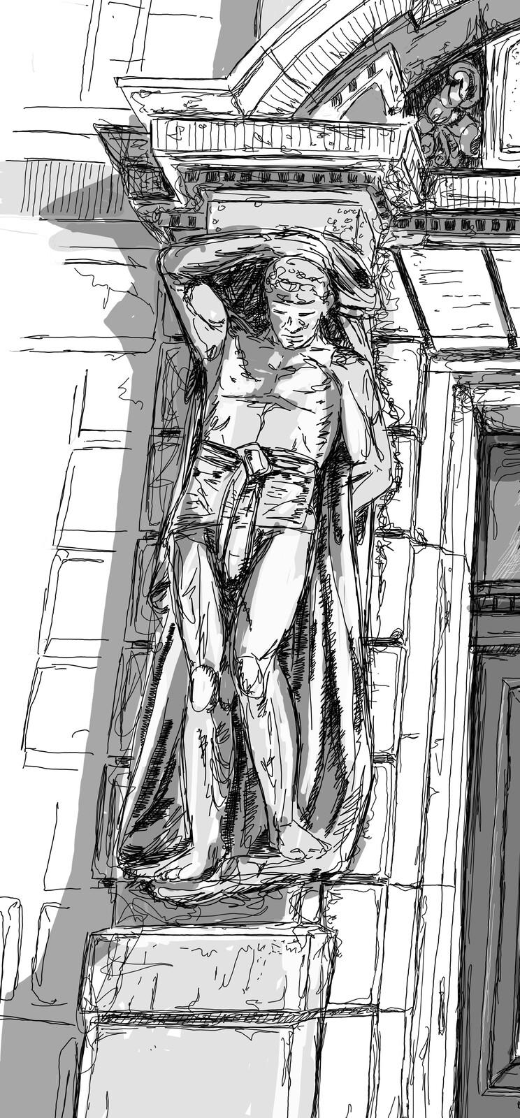 son's statue