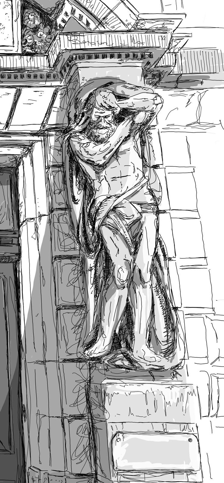 father's statue