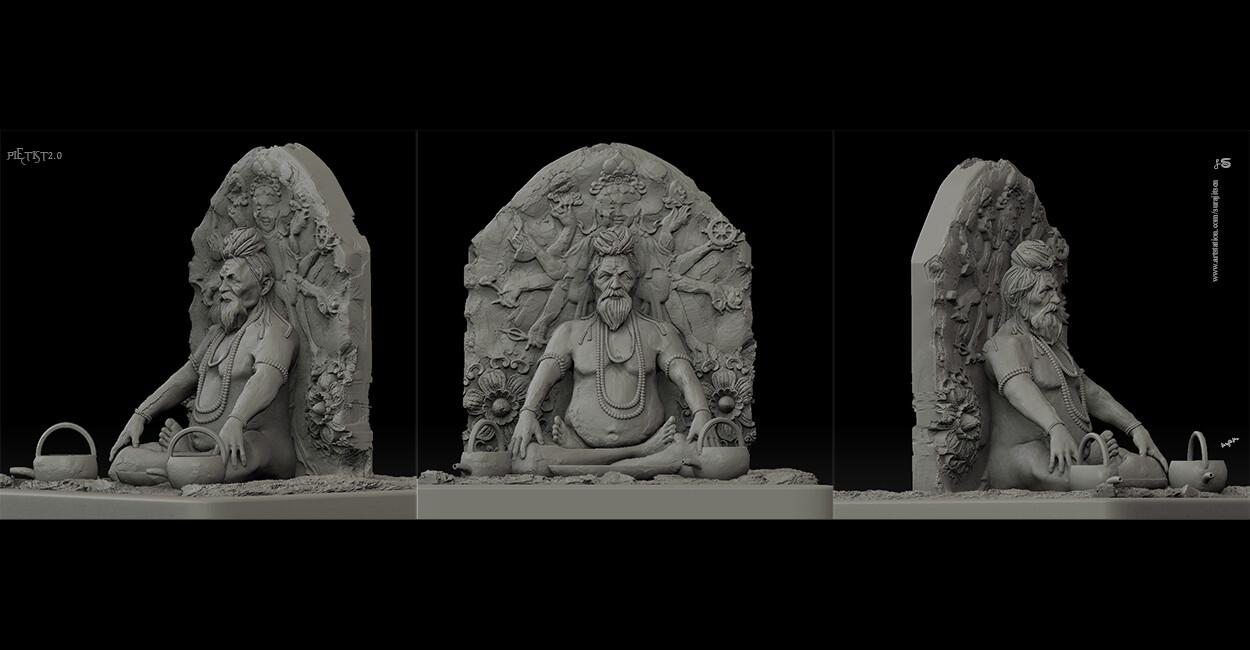 PIETIST2.0 Digital Sculpture. One of my Sculptures... Background music- #hanszimmermusic