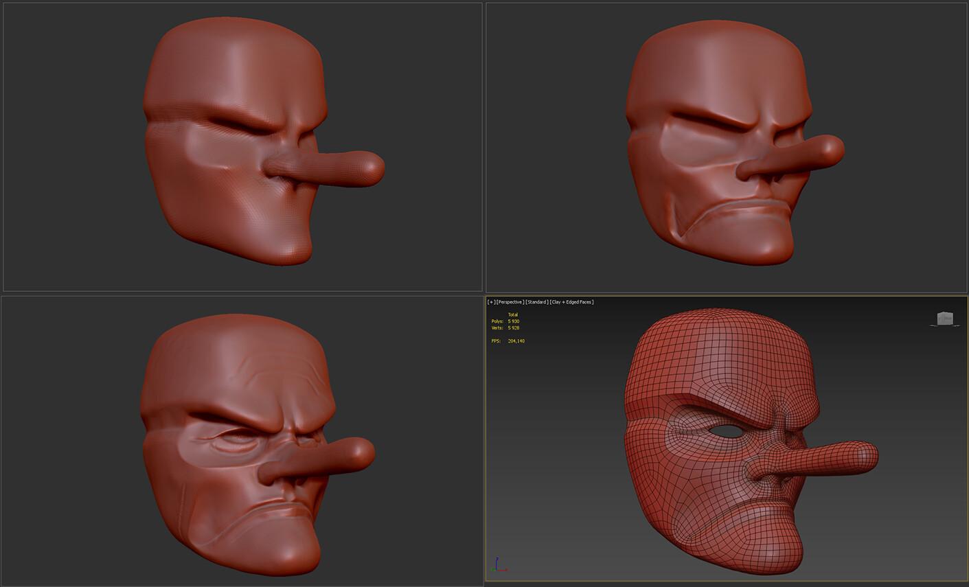 Mask progression