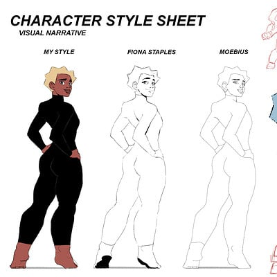 Comic Character Style Sheet