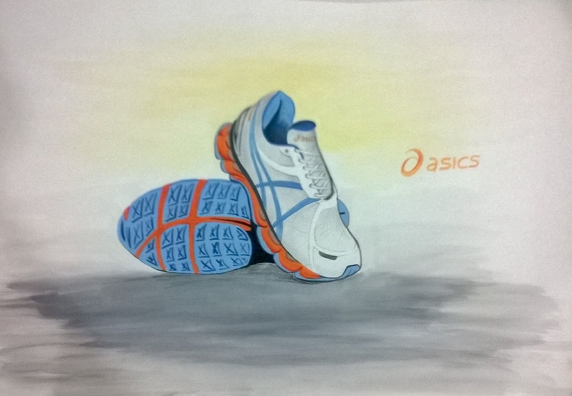Shoe - Poster color on paper