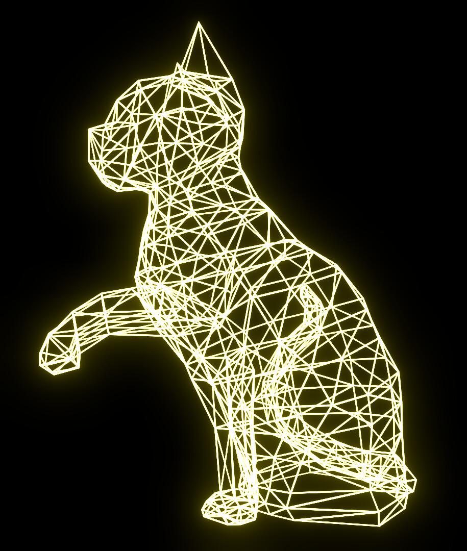 Illuminated Cat