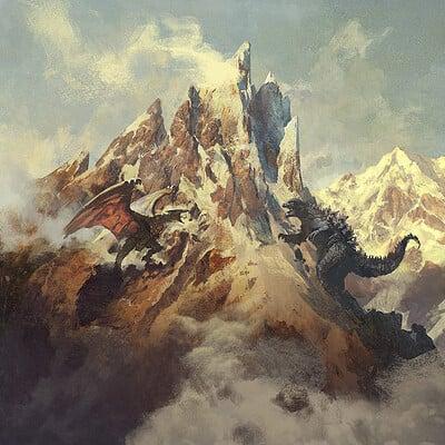 Greg rutkowski mountain 1200
