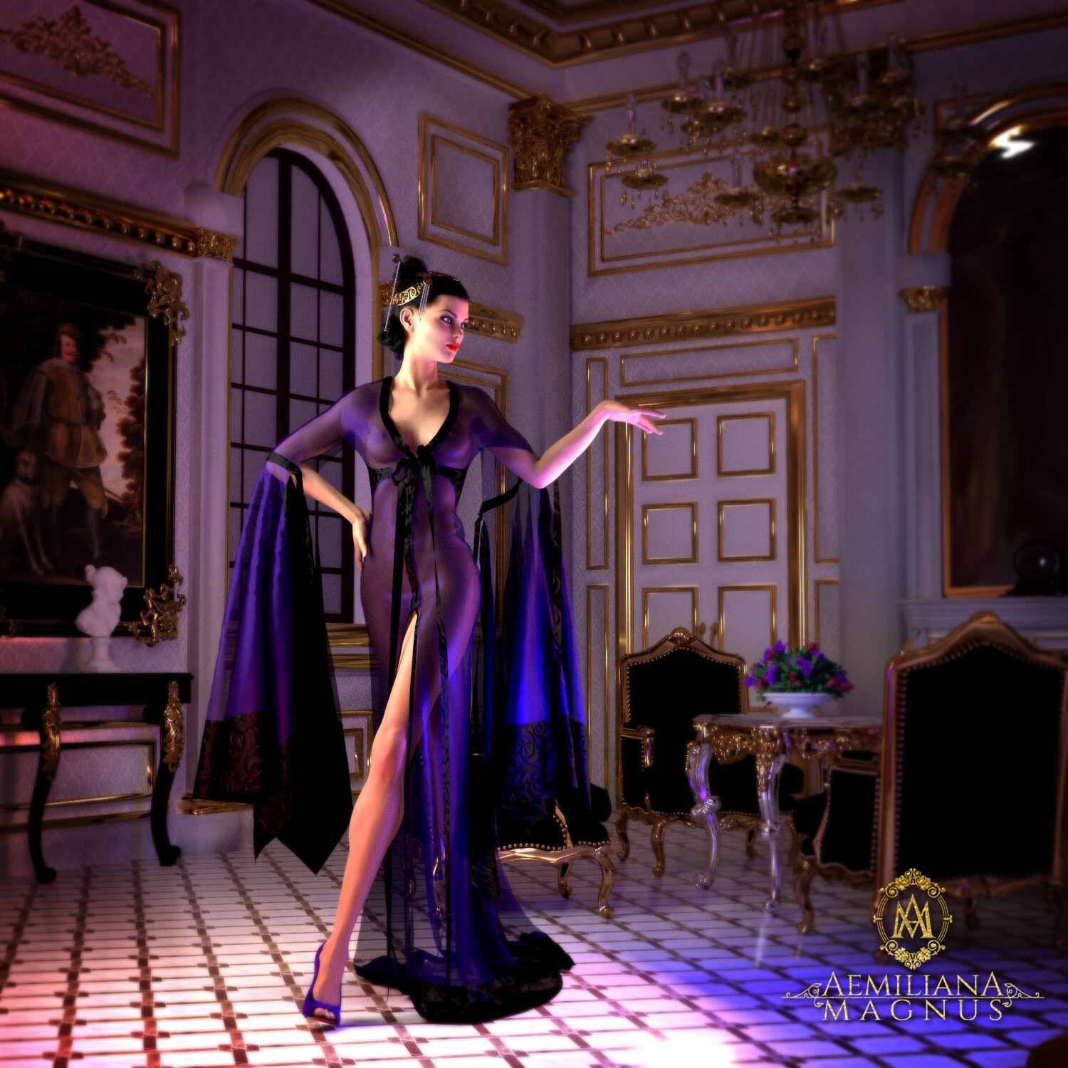 Couture Night Gown and Concept Design by Aemiliana Magnus