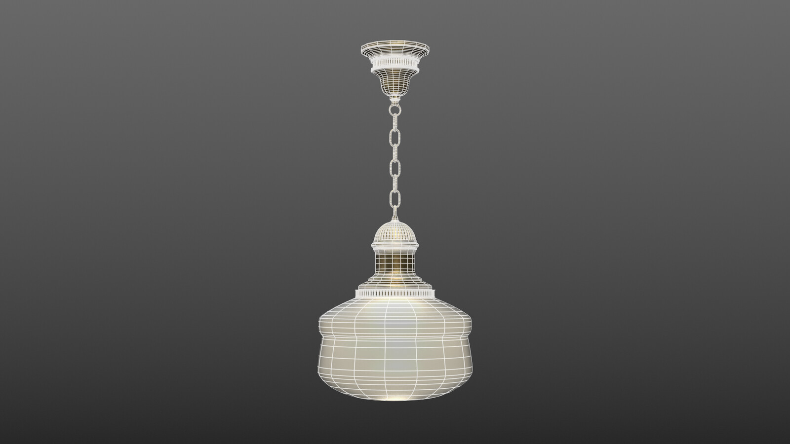 Ceiling lamp - Wireframe