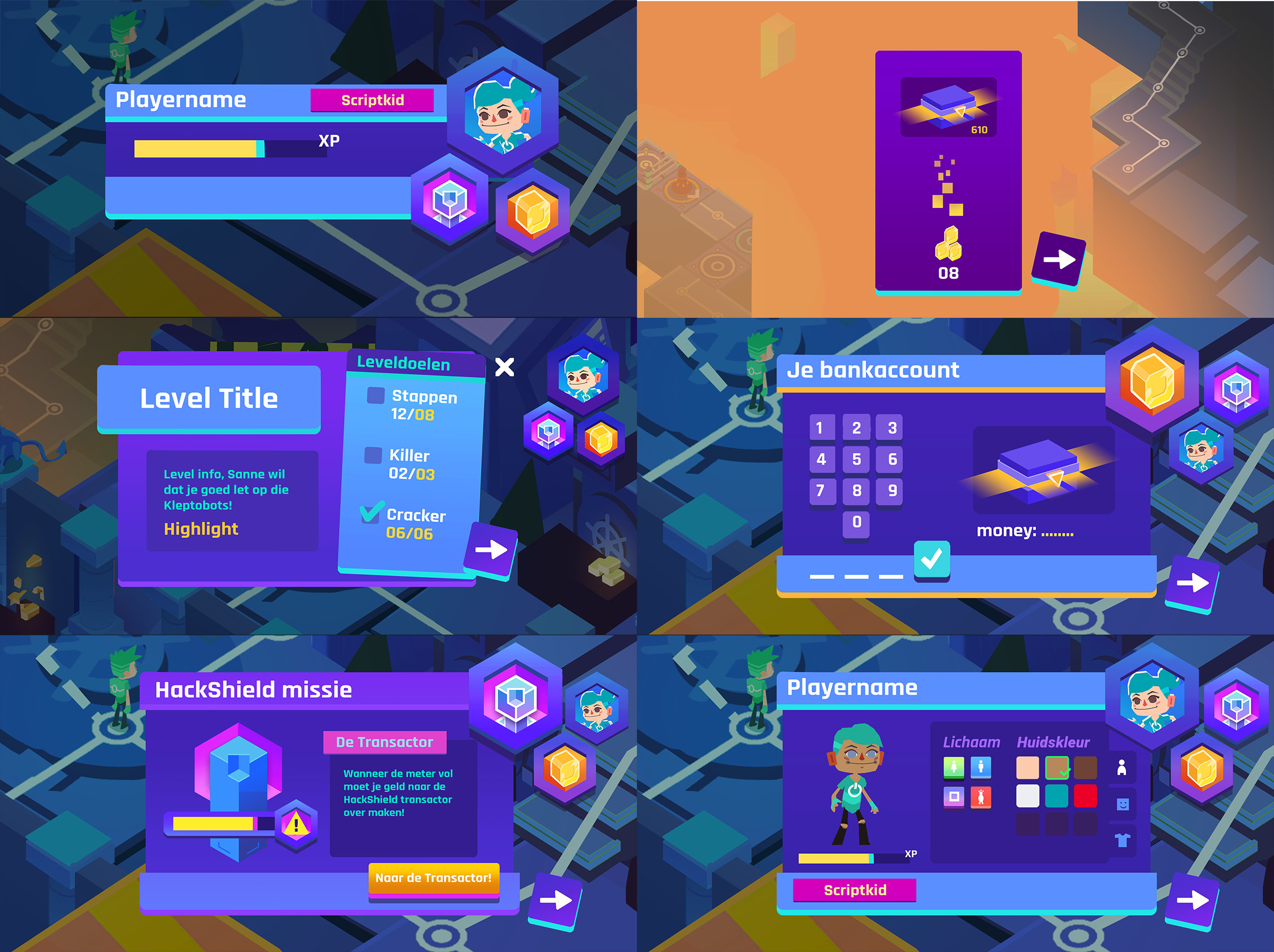 Early in-game UI concepts