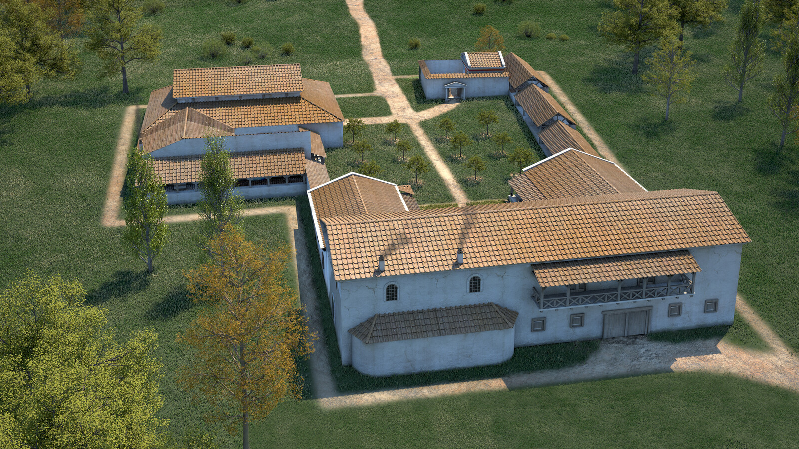 Roman Villa of Weyregg - East view