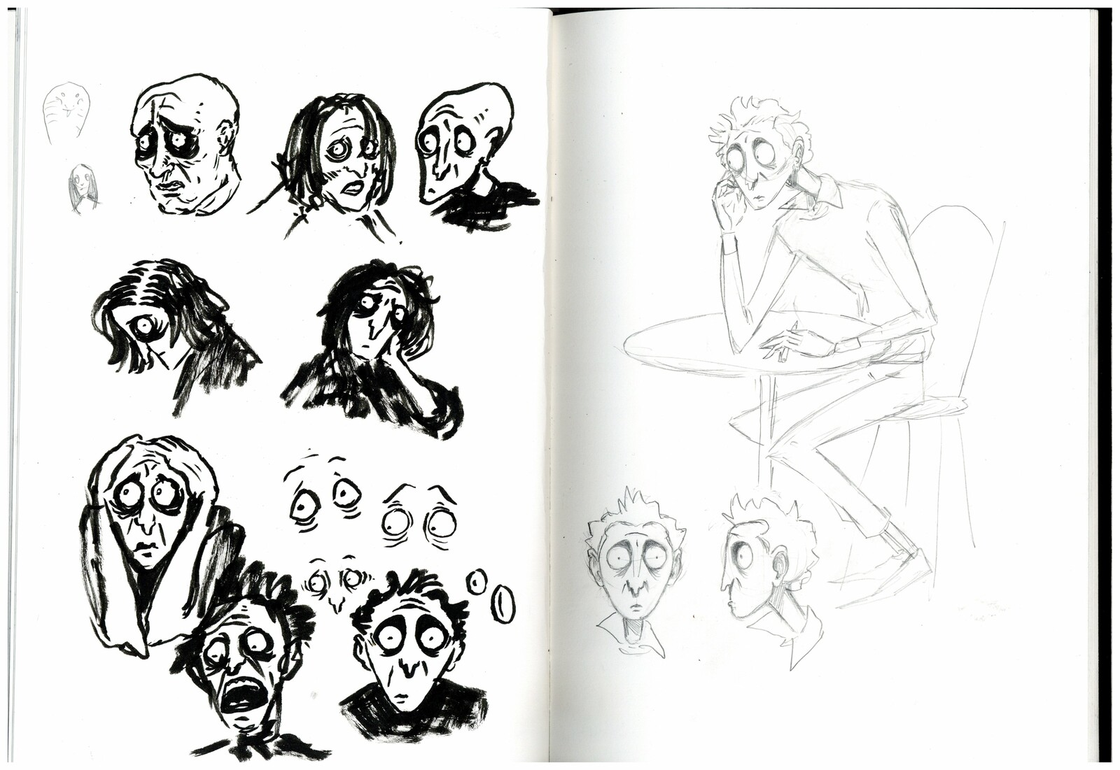 Early 'Snake man' concepts.