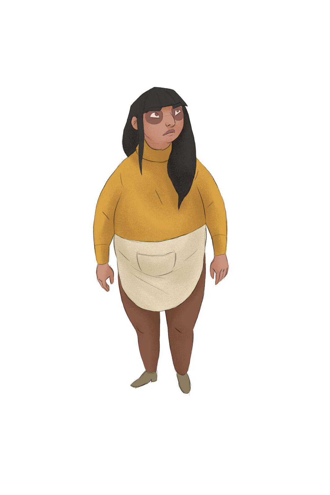 Nina character design, based on concepts by Jessie Francis.