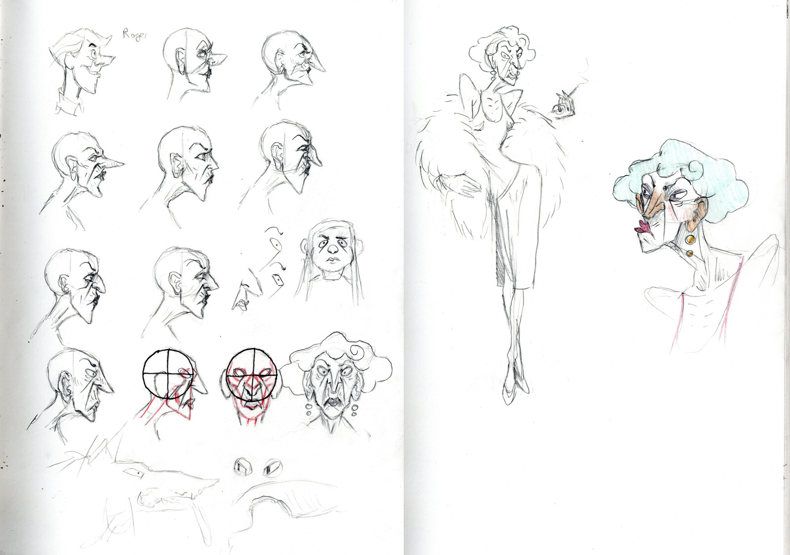 My early Veronique concepts.