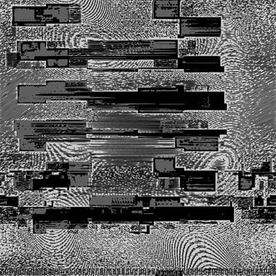 Rabbit klein art glitched framebuffer of a ladder with banding in low monochrome svg