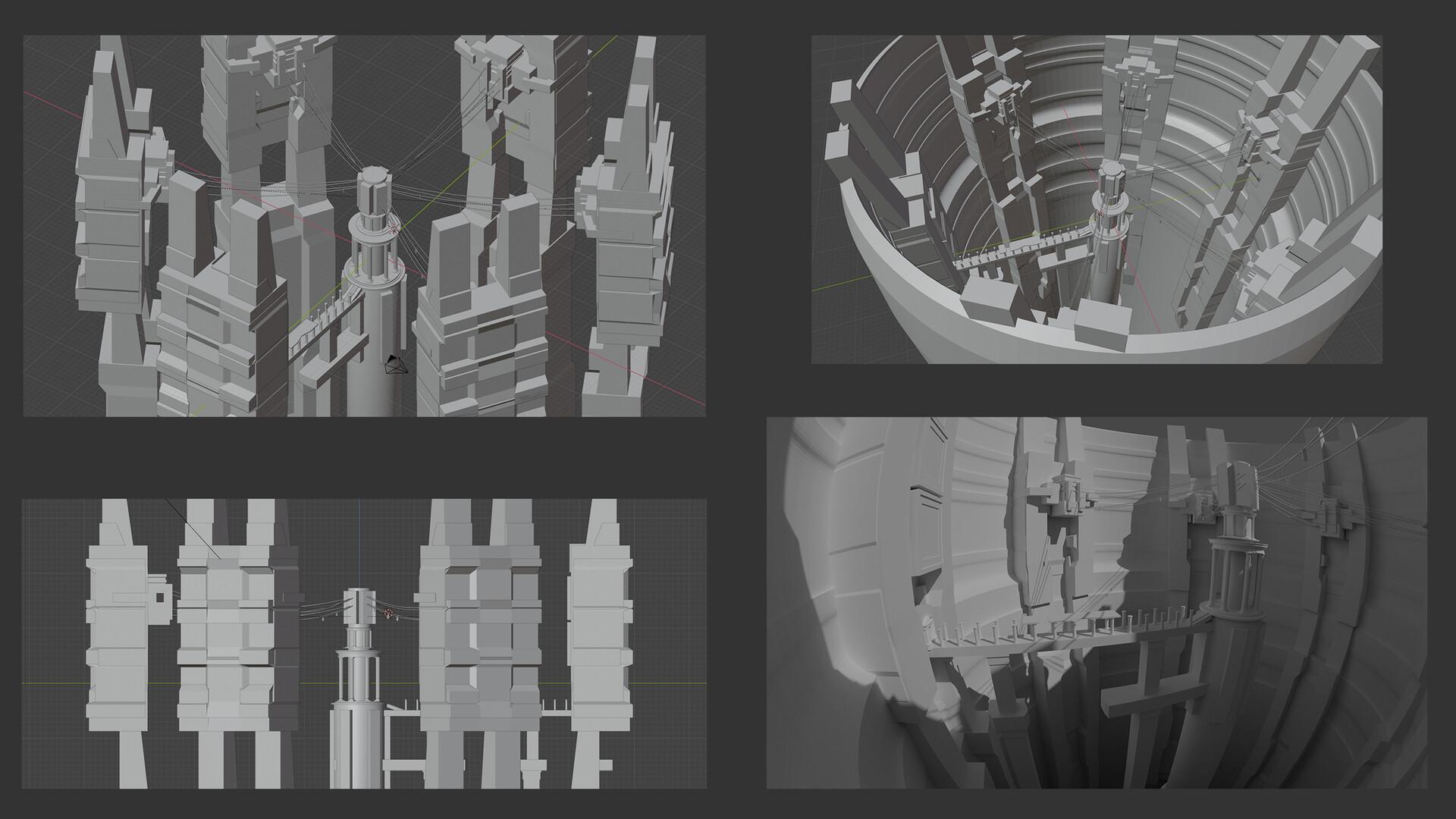 3D Blockout in Blender