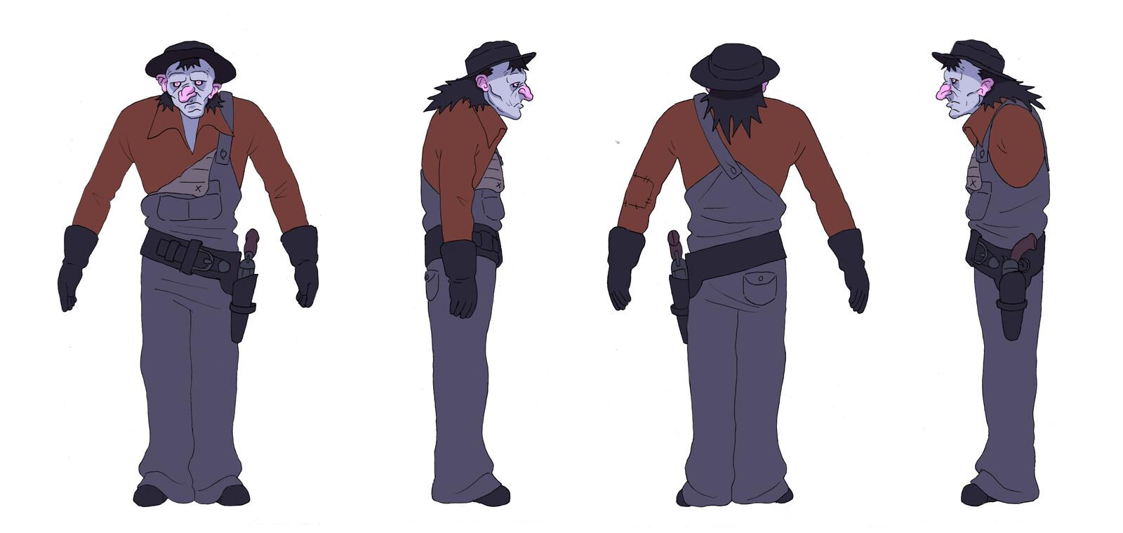 Character turnaround.