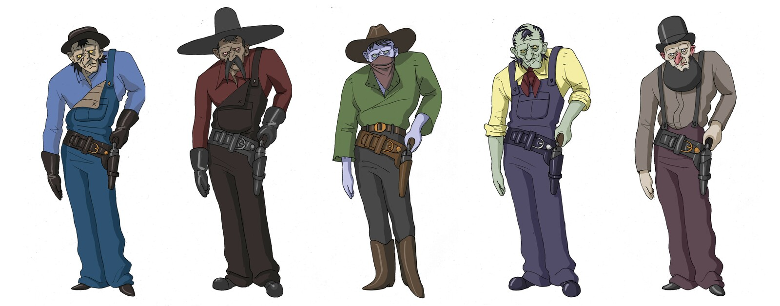 Character design variations.