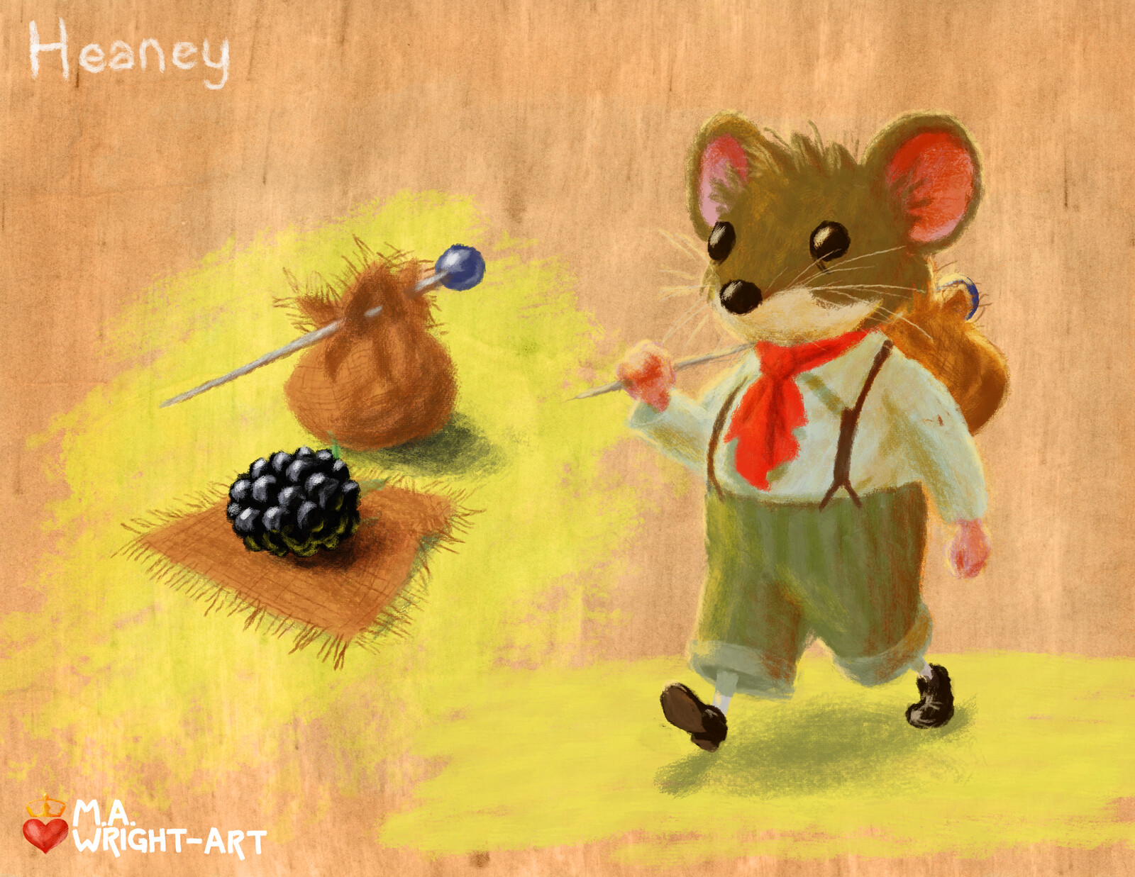Heaney & his black berry bindle.