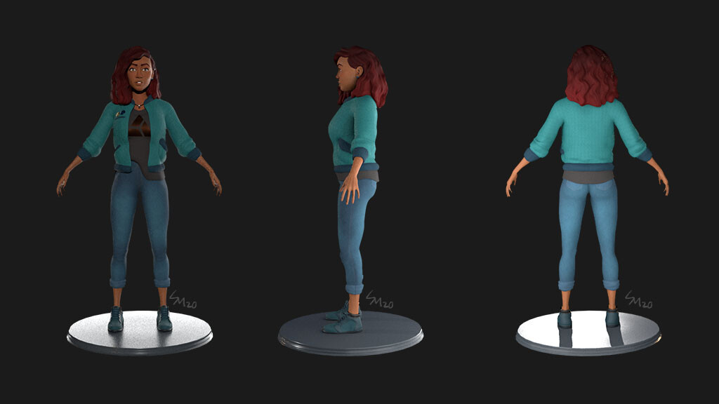 Ellie full body turnarounds