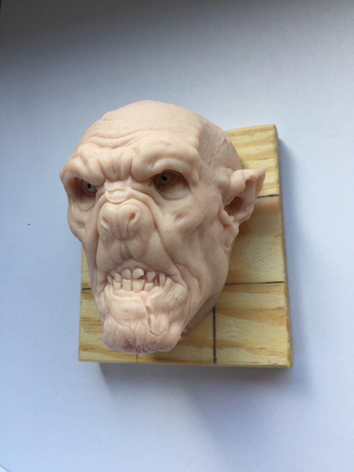 Vampire/Dracula polimer clay sculptur.