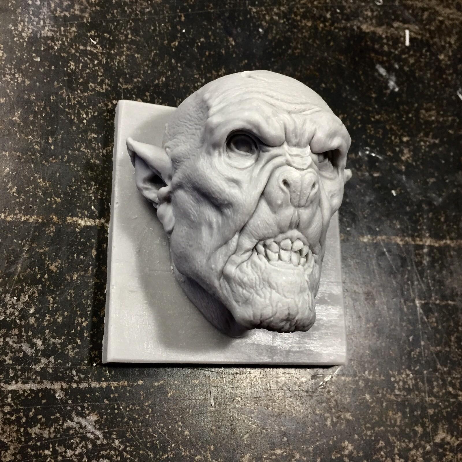Vampire/Dracula polimer clay sculpture.