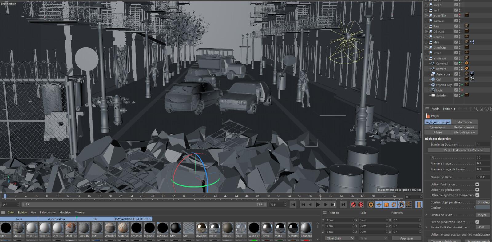 street rendu 3d map sans texture