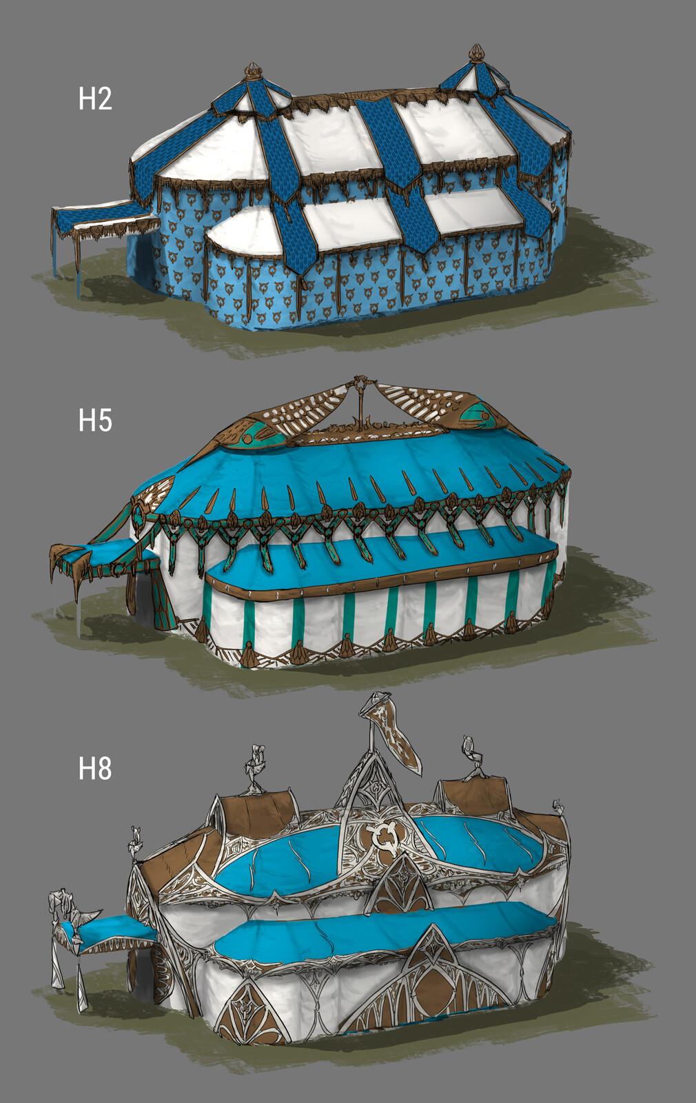 The Siege: King's Tent Design 01 (180min) // Fantasy / Medieval / Props / Design