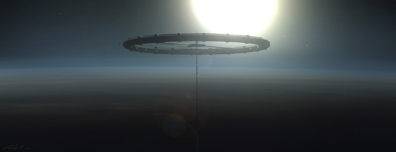 Space elevator ring early concept