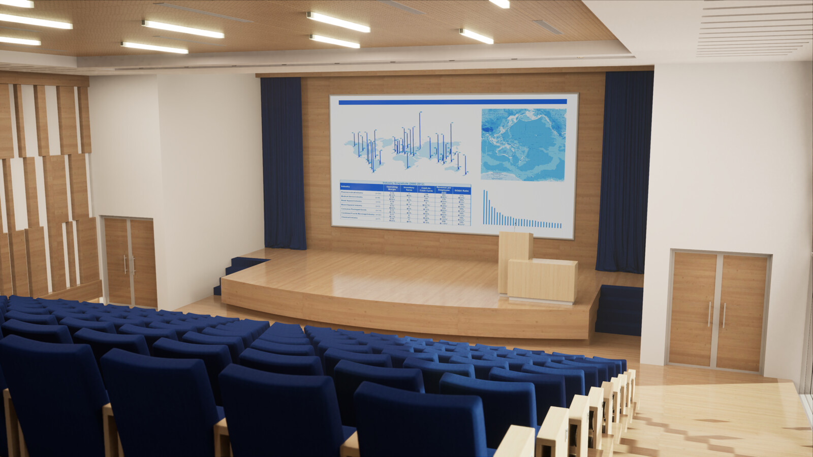 Conference hall, Done with Unreal engine 4.24 RTX