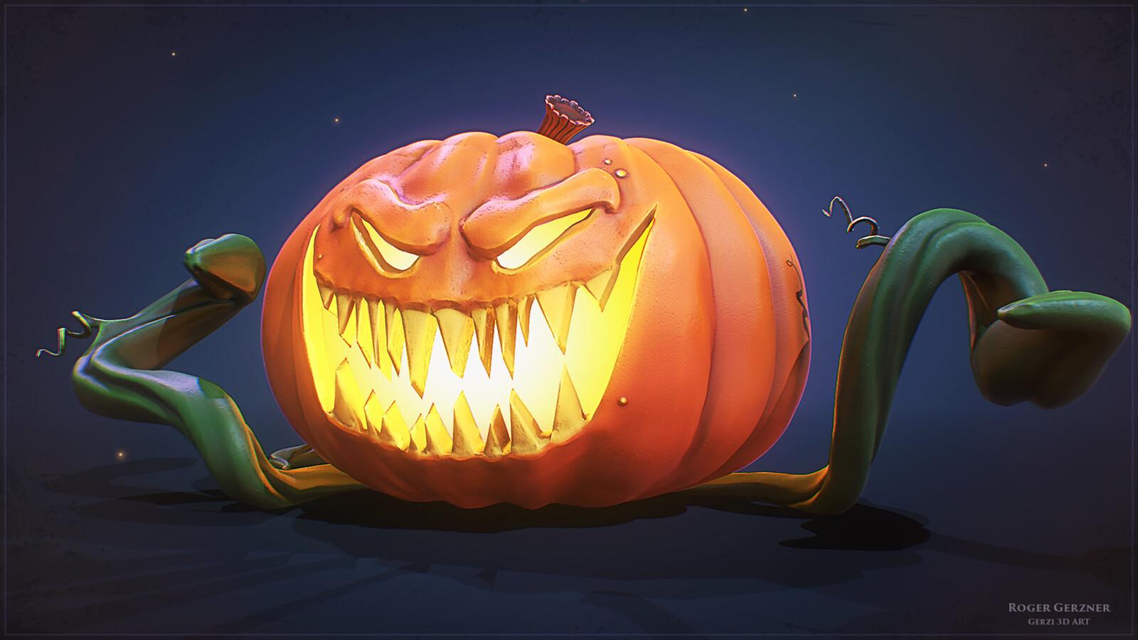 Stylized Halloween Jack-o'-lantern