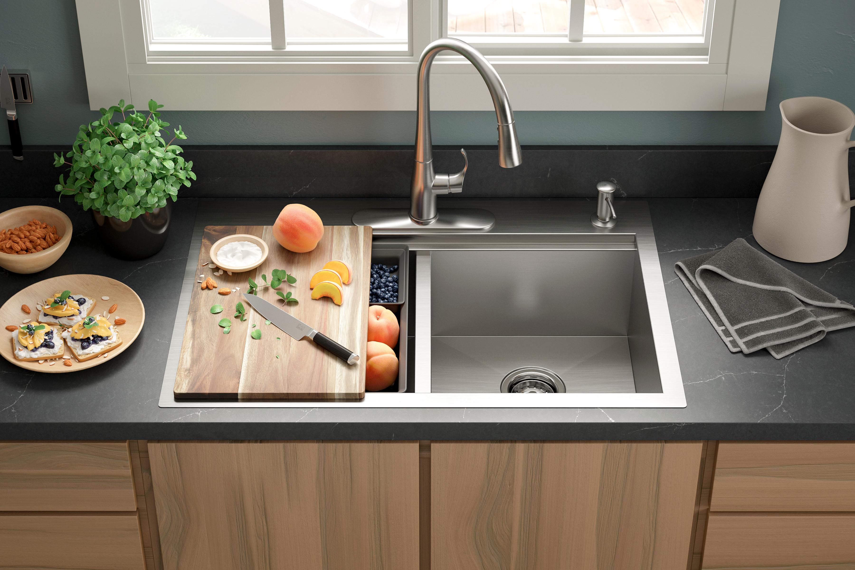 Mark Fonzen Lyric Kitchen Sink With Accessories