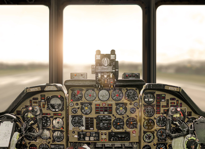One of three pilots' post.