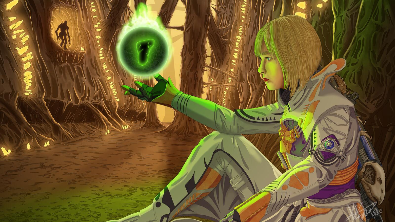 Zivalelyna, The Warlock