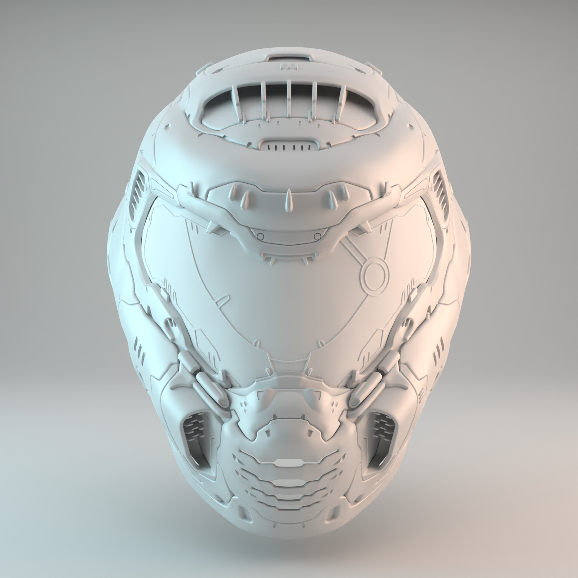 Artstation Doom Slayer Helmet 3d Print Model Doom Eternal