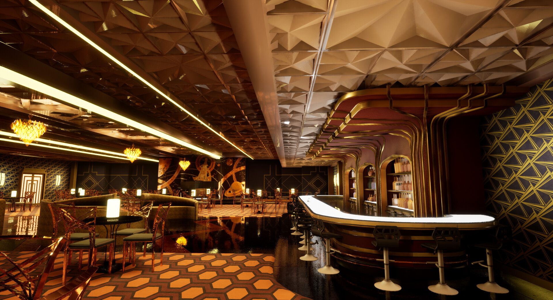 A screenshot of the bar in UE4