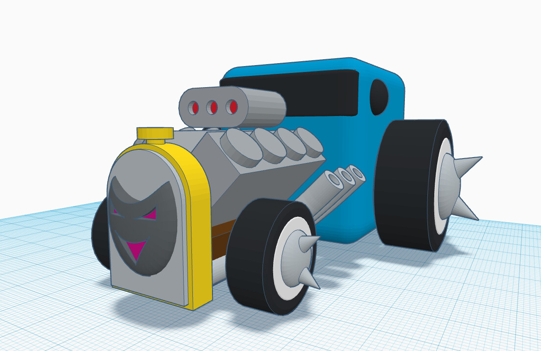 Reference model for the car, made in Tinkercad.