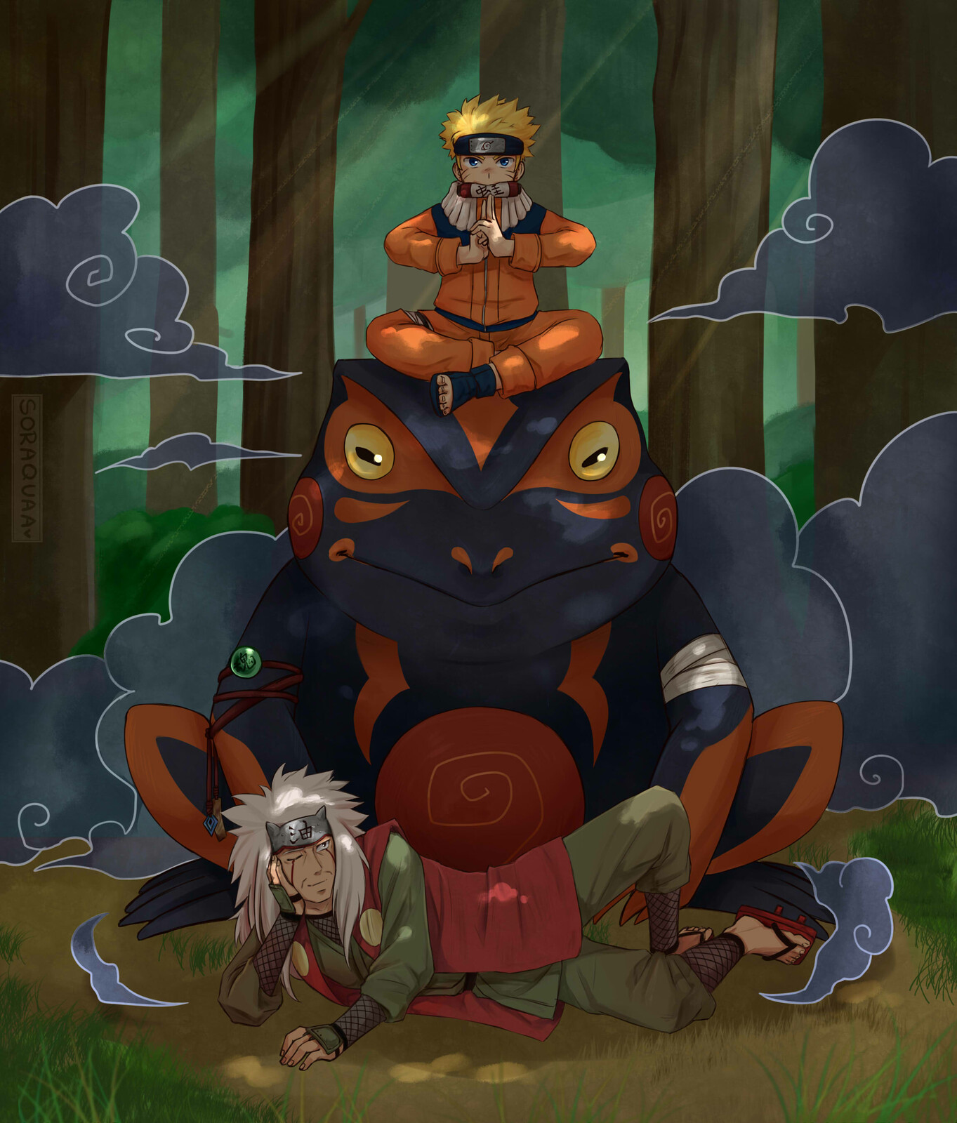 Artstation Naruto And Jiraiya Soraquaa