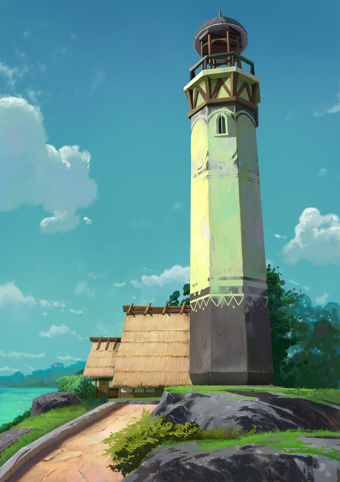 Light House + video Process