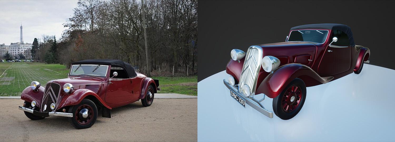 Citroen 1939- Side By Side Comparison