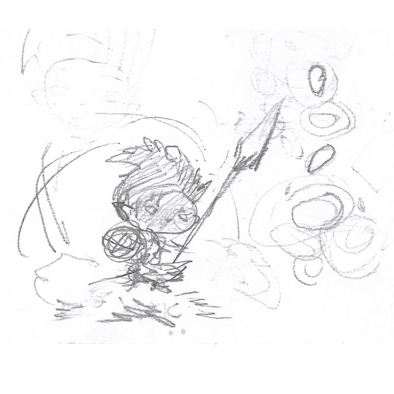 Aha moment! Sketching a new Jack for this image
