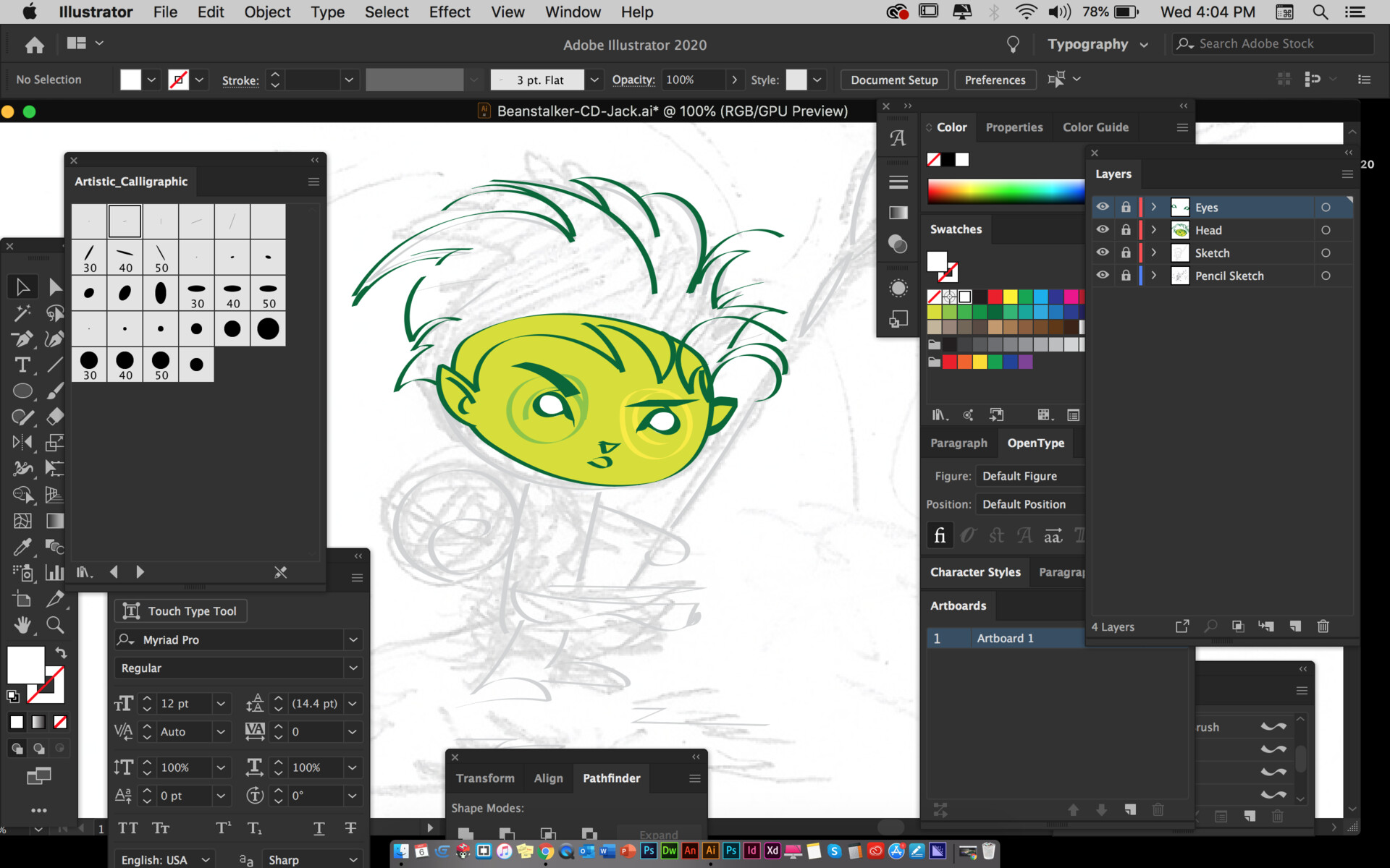 Refining the character.... Green, nah.