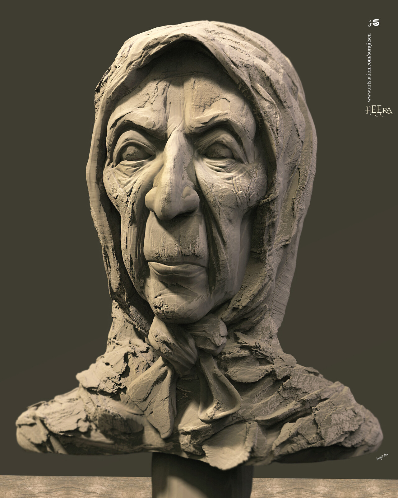 HEERA Digital Sculpture. My free time quick Sculpting... Background music- #hanszimmermusic