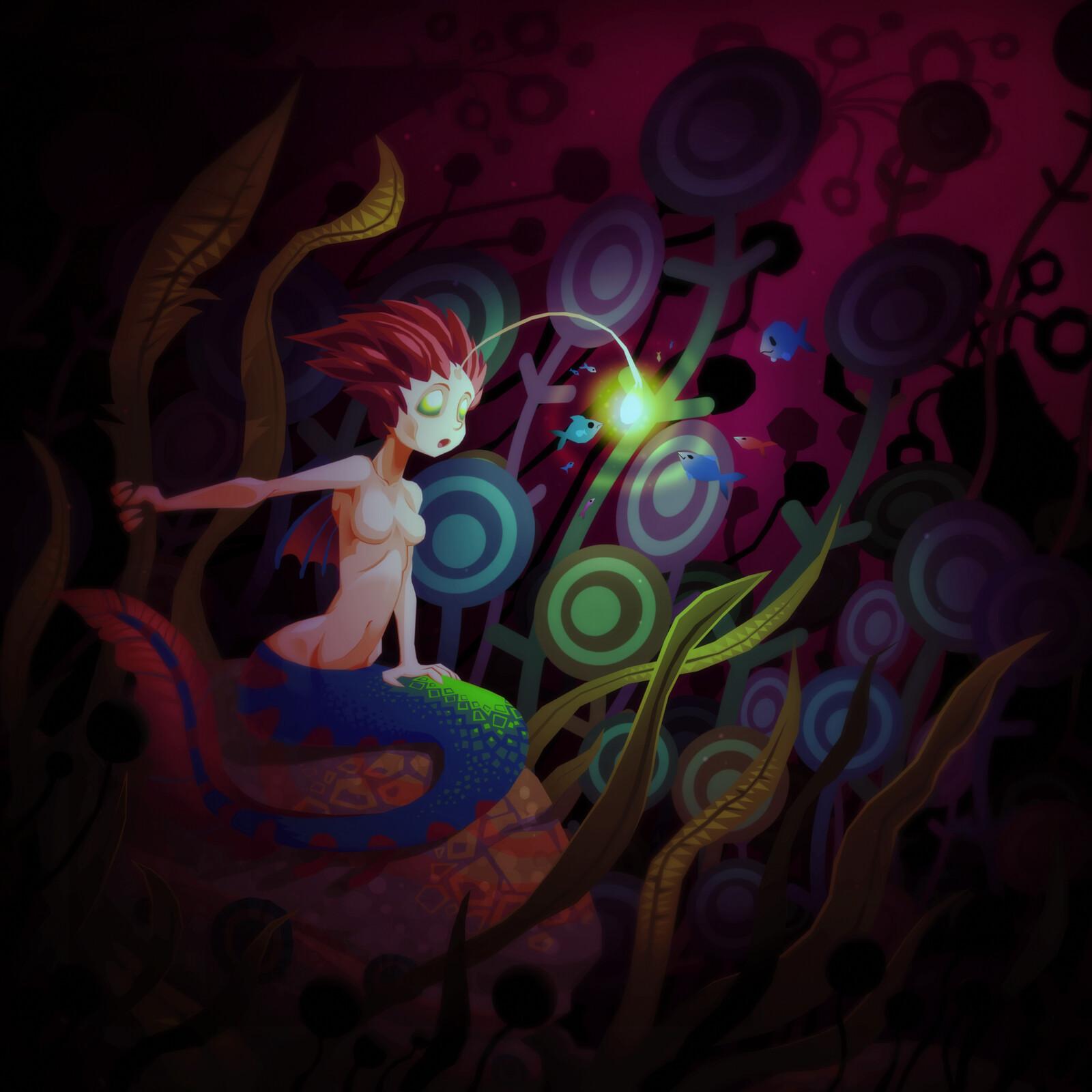 Angler mermaid