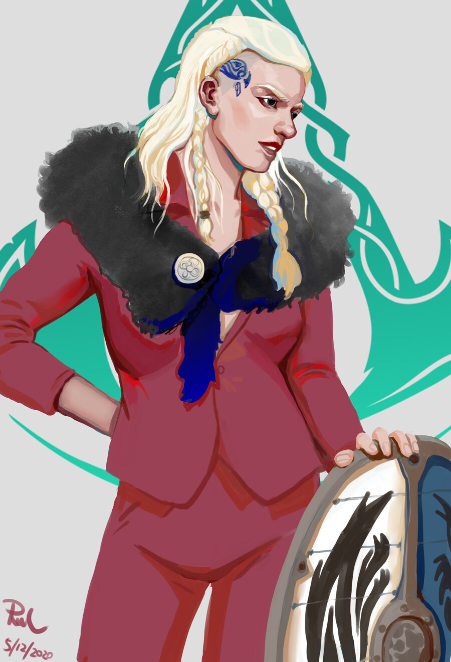 Rul L Assassin S Creed Valhalla Fan Art Lady Eivor In Suit