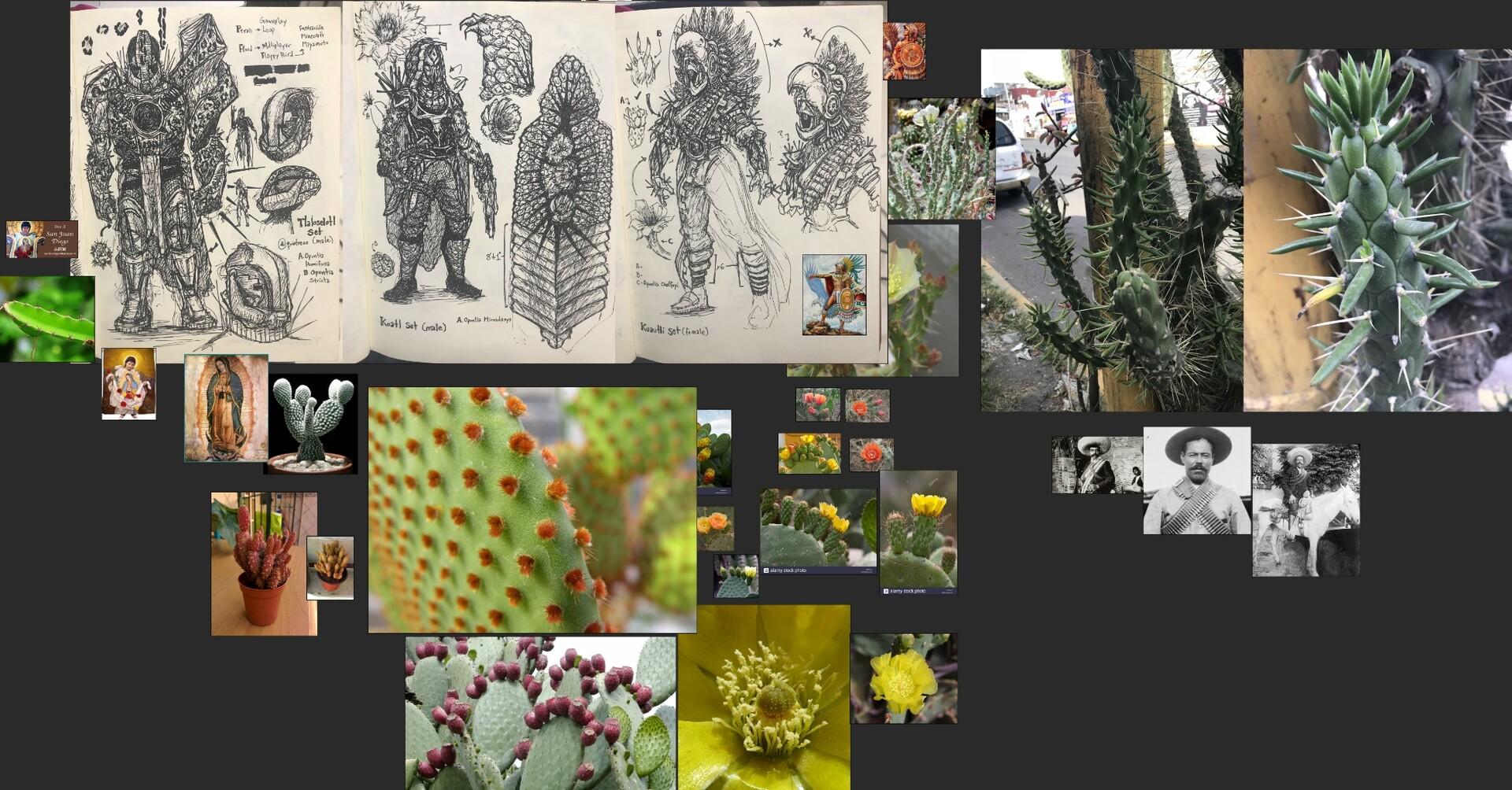 "Hunter ""Koatl"", Titan ""Tlaloselotl"", & Warlock ""Kuautli"" Sets Initial Sketches & Design Exploration"