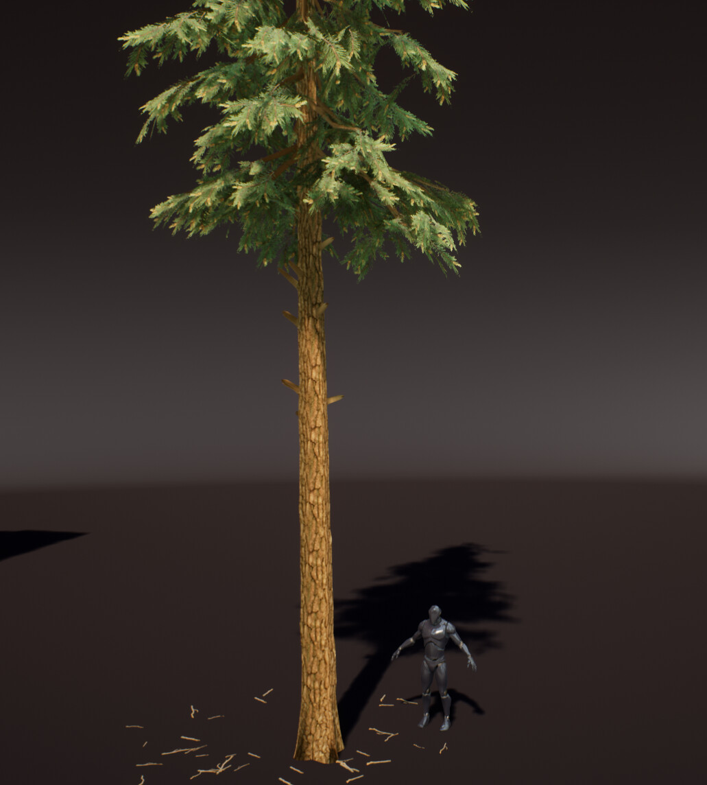 Preview on a tree mesh.