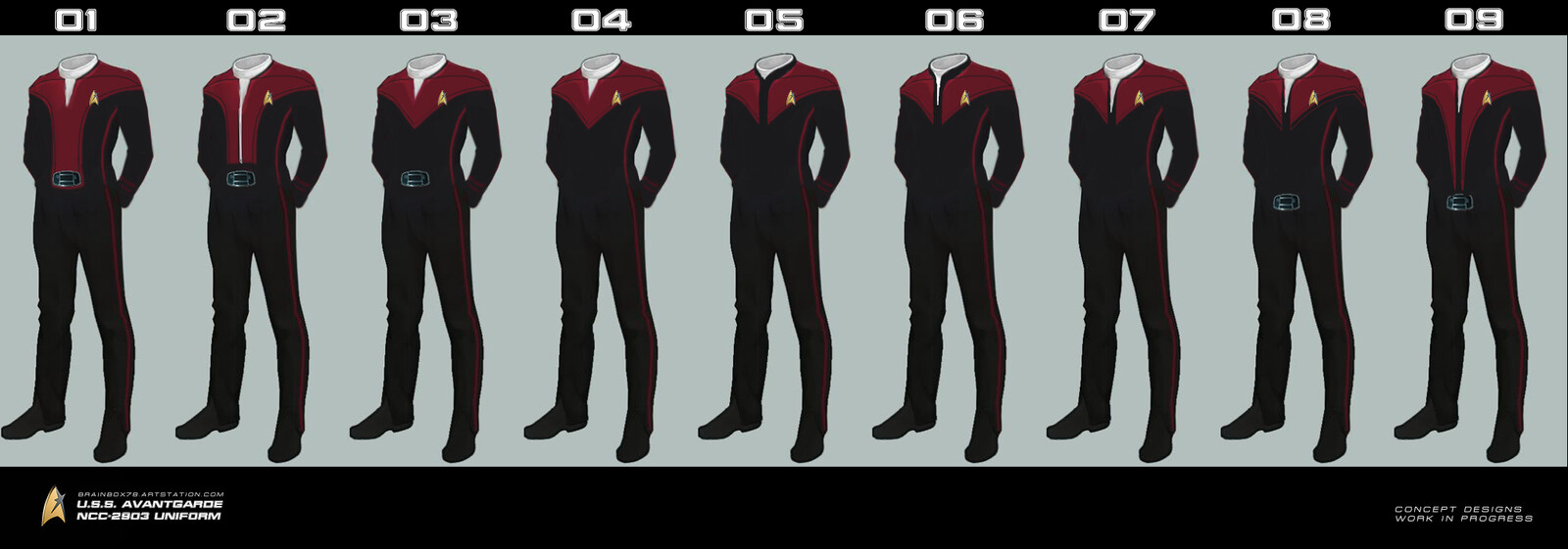 U.S.S. AVANTGARDE NCC-2903 UNIFORM CONCEPT DESIGNS