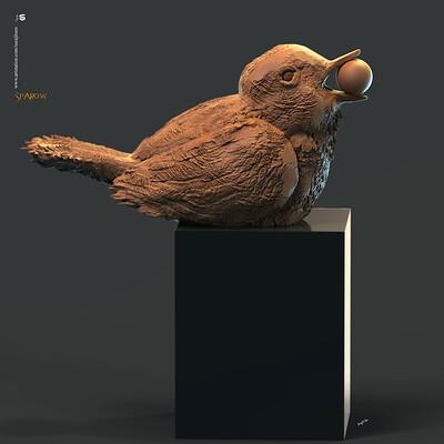 Surajit sen sparrow digital sculpture surajitsen may2020
