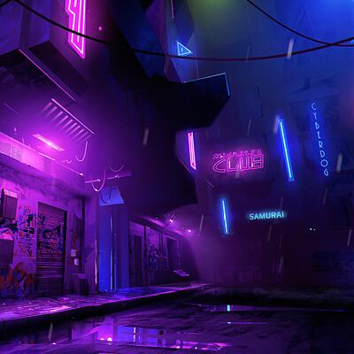 Samuele bandini cyberpunk city 1